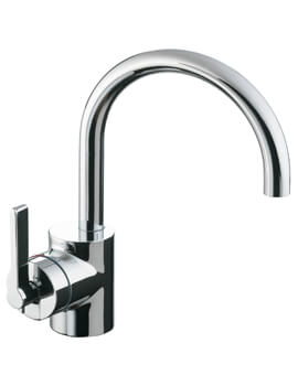 Silver Single Lever Basin Mixer Tap Without Waste