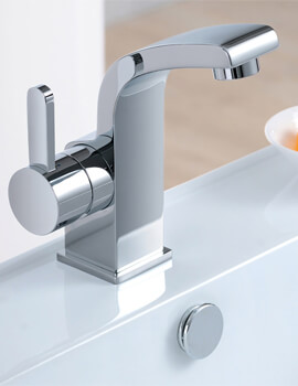 Essence Cloakroom 132mm High Basin Mixer Tap With Clicker Waste
