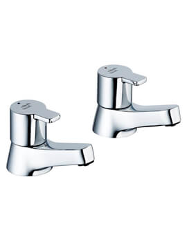 Sandringham 21 SL 3/4 Inch Pair Of Bath Pillar Taps