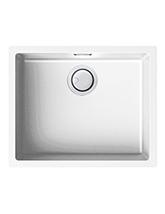 Reginox Zen Single Bowl White Granite Kitchen Sink 400 x 400mm