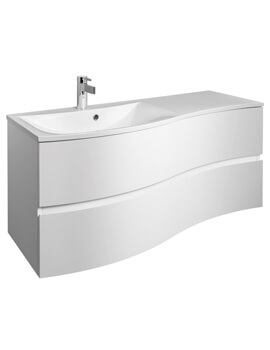 Svelte 1200 x 520mm 2 Drawer Unit With Basin