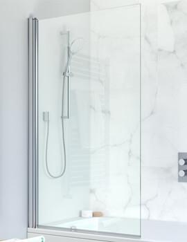 Crosswater Design 8 Frame-less Single Panel Bath Screen 850 x 1500mm