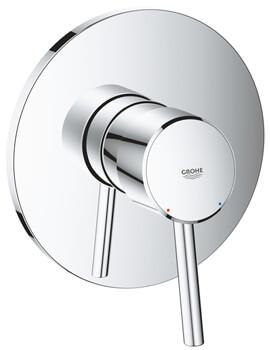 Concetto Chrome Single Lever Shower Mixer Trim