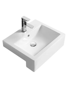Vessel 510 x 510mm Square Semi-Recessed Basin