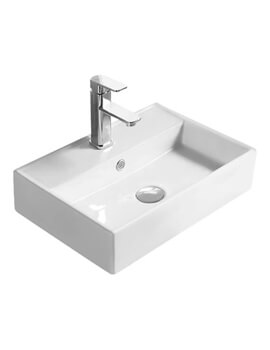 Hudson Reed Vessel 500 x 350mm Rectangular Countertop Basin