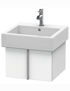 Vero Air 431mm Depth Wall Mounted Pull Out Compartment Vanity Unit And Basin