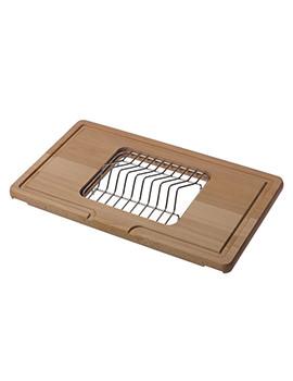 Reginox S3105 Wooden Cutting Board With Dish Holder