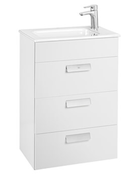 Roca Debba Unik Compact Base Unit With Three Drawers and Basin