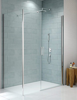 Merlyn 8 Series 800mm Frameless Pivot Door And 200mm Inline Panel
