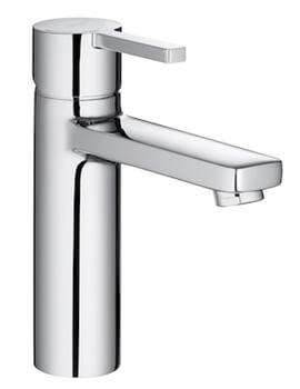 Naia Smooth Body Medium Height Basin Mixer Tap