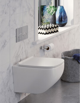 Infinity Rimless Wall Hung WC With Soft Close Seat
