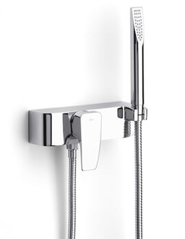 Thesis Chrome Wall Mounted Shower Mixer With Kit