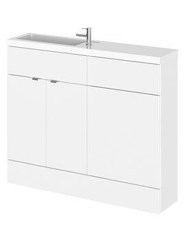Hudson Reed Fusion 1000mm Compact Furniture Pack - Vanity And WC Unit With Basin