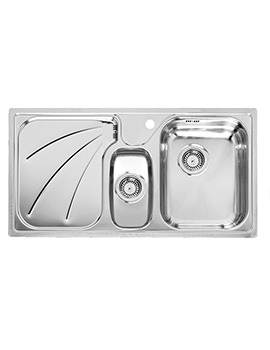 Madison 1.5 Bowl Stainless Steel Inset Kitchen Sink 950 x 500mm