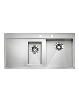 Ontario 1.5 Bowl Stainless Steel Integrated Sink 1000 x 500mm