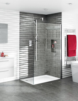 Spectra SP400 1950mm High Walk-in Shower Screen For Recess