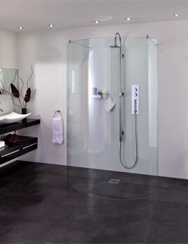 Spectra SP395 Walk In Double Entry Curved Shower Screen 1294mm