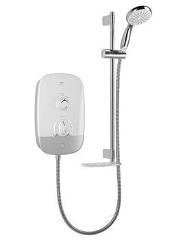 Meta White-Chrome Electric Shower