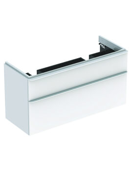 Geberit Smyle Square 1184 x 470mm Two Drawers Vanity Unit For Double Basin