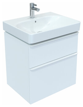 Geberit Smyle Square 617mm High Two Drawers Vanity Unit