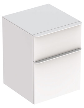 Geberit Smyle Square 450 x 470mm Two Drawers Low Cabinet