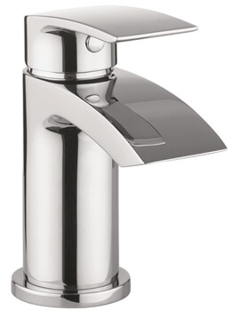 Crosswater Flow Mini Monobloc Basin Mixer Tap With Click Clack Waste - Image