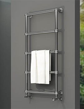 Aeon Arcane 560mm Wide Vertical Stainless Steel Towel Rail Polished