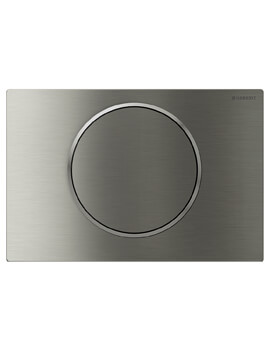 Sigma10 Single Flush Plate Stainless Steel