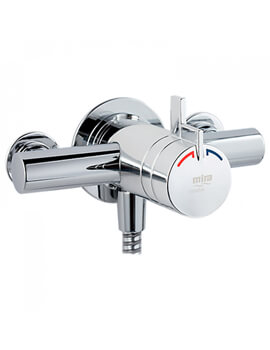 Miniduo Thermostatic Exposed Shower Valve Chrome