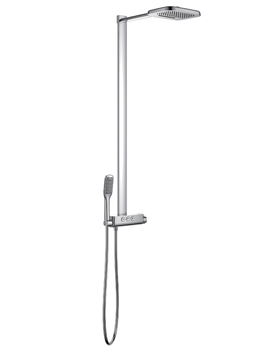 Fusion Goclick Exposed Thermostatic Shower Column With 3 Outlets - FNTEXGO3