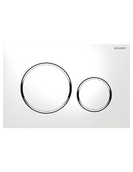 Geberit Sigma20 Plastic Dual Flush Plate 246 x 164mm