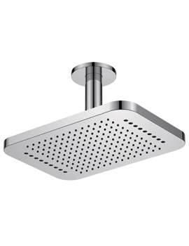 Design 2 Function Ceiling Mounted Shower Head Rainshower With Rainstream