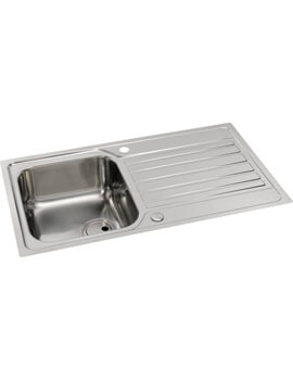 Abode Connekt FlushFit Stainless Steel 1.0 Bowl Kitchen Sink With Drainer