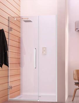 Aqata Design DS458 Left-Hand Hinged Door And Inline Panel Corner Enclosure 900 x 760mm
