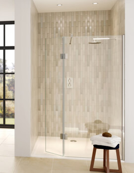 Design DS446 Left-Hand Entry 1200mm Shower Screen And Hinged Panel For Recess
