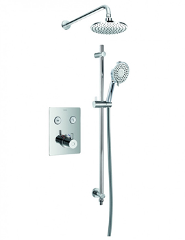 Levo Thermostatic Goclick 2 Outlet Concealed Shower Pack