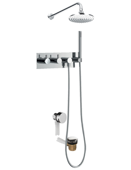 Levo Thermostatic Horizontal 3 Outlet Concealed Shower Pack