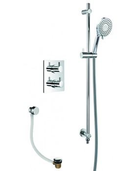 Levo Thermostatic Shower Pack With Bath Overflow Filler