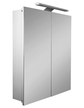 Roca Sol 600mm Double-Door Mirror Cabinet With LED Lighting
