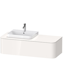 Happy D.2 Plus 1300 x 550mm Vanity Unit With 1 Pull-Out Compartment For Basin Left