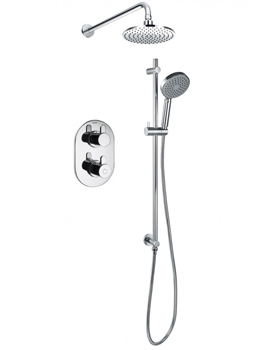 Smart Thermostatic 2 Way Shower Pack With Riser Rail Set