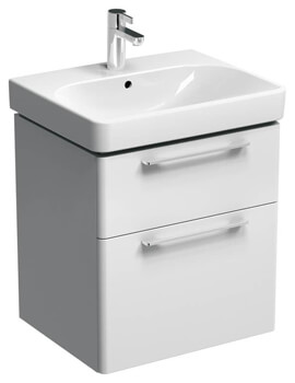 Smyle 570mm Wide Two Drawers Unit With One Taphole Washbasin - EX-DISPLAY