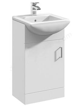 Alaska 463mm Deluxe Basin Vanity Unit With 1 Door