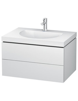 L-Cube Double Drawer Vanity Unit With C-Bonded Washbasin