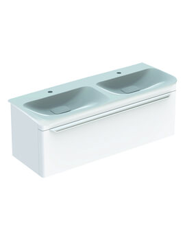 MyDay 1160mm Wide Single Drawer Vanity Unit And Double Basin