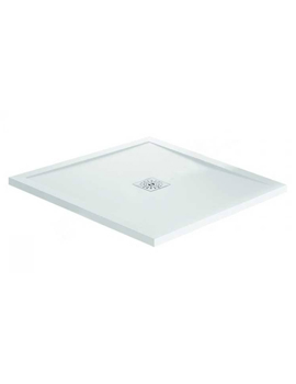 Waifer Gloss White Square Shower Tray