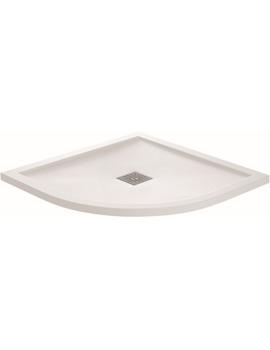 April Waifer White Gloss Quadrant Tray