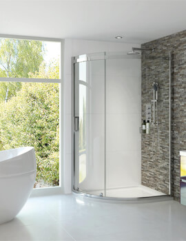Spectra SP350 Sliding Door Quadrant Shower Enclosure 900 x 900mm