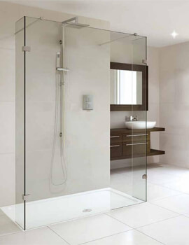 Spectra SP450 Double Entry 1200mm Shower Screen With Fixed Return Panel