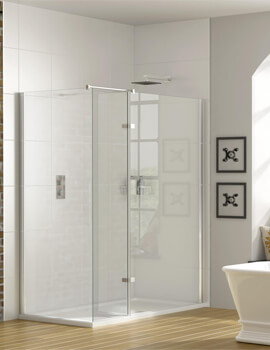 Spectra SP447 Corner Walk-In Enclosure With Hinged Panel 1200 x 760mm